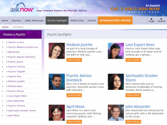 ask now psychics website