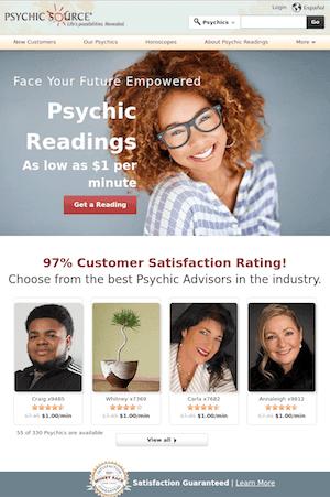 psychic source screen shot